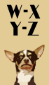 W-Z Boy Dog Names